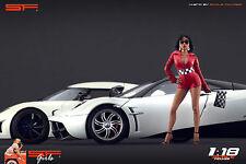 1/18 Start Finish Girl VERY RARE !! figure for1:18 CMC Autoart Ferrari BBR
