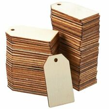 Small Unfinished Wooden Tags for Crafts (Brown, 60 Pack)