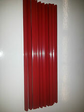 QTY 10 (TEN) A4 SLIDE BINDERS 5MM CAPACITY RED (LENGTH 297 MM)-SQUARE