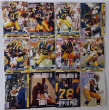 1991 Pro Set Series 1 Los Angeles Rams Team Set 12 Football Cards
