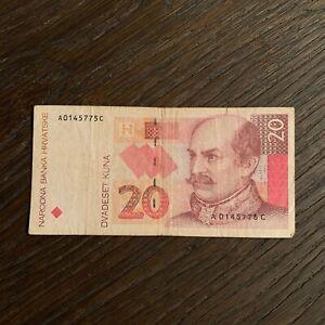 CROATIA BANKNOTE - 20 KUNA - 1993 - FREE SHIPPING