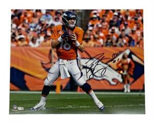 "PEYTON MANNING Autographed ""HOF 21"" Denver Broncos 16"" x 20"" Photograph FANATICS"