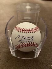 Ben Zobrist Autographed Baseball Chicago Cubs WITH CASE Inscription