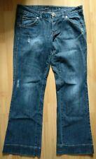 Miss Sixty Blue Boot Cut Jeans Conny Jeans W32 L30 Flower Button