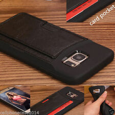 Leather Matte Mobile Phone Cases, Covers & Skins for Samsung Galaxy S7 edge with Card Pocket