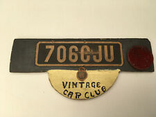 Vintage Wooden Car Club Sign. Hand Made?