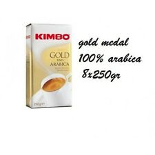 8x Coffee Kimbo Espresso GOLD MEDAL AROMA 100% Arabica 250g ground Caffé