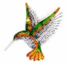 Hummingbird Metal Hanging Wall Art Bird Vibrant Colours Home Garden Decor 42 cm