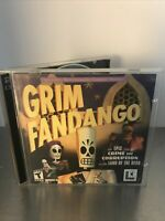 GRIM FANDANGO Vintage PC Video Game (CD-ROM, 2-Disc Set, 1997, LucasArts)