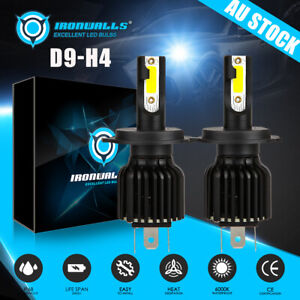 LED HEADLIGHT 180W 21600LM H4 9003 HB2 Hi/Low BEAM BULBS Globes 6000K Pure White