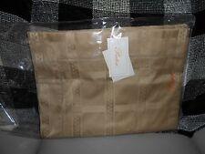 Pratesi Jacquard Queen Duvet Cover Egyptian Cotton New In Pkg Soft Brown Color