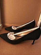 G.I.L.I. Black Leather Mid Heel Georgette Pump Shoe Size 7.5