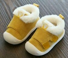 Winter Infant Shoes Toddler Boots Warm Plush Baby Girls Boys Snow Soft Non-Slip