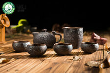 Main bois four à Céramique Ruyi Gongfu Tea Set théière Pitcher Quatre tasses