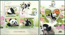 Panda Chine Ours Animaux Faune Madagascar MNH Jeu de Timbres Odd Forme