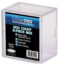 ULTRA PRO 200 COUNT 2 PIECE PLASTIC BOX