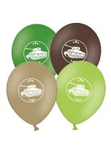 """Army Military Tank   12""""  Green and Brown Assorted Latex Balloons pack of 12"""