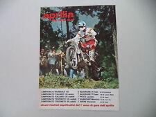 advertising Pubblicità 1976 MOTO APRILIA MX 125 CROSS