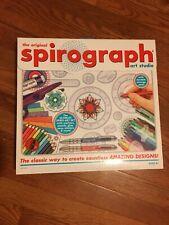 SPIROGRAPH ART STUDIO-LIGHT USE-NEAR COMPLETE-MARKERS,PENCILS,RINGS,WHEELS-NICE
