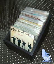 """CAJON DE MADERA PARA GUARDAR 130 / 150 DISCOS DE VINILO SINGLES 7"""" Y EP"""