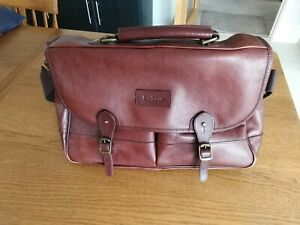 Barbour Leather Bag Satchel Brown