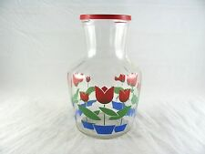 Hazel Atlas Tulips Juice Glass Carafe, pitcher, decanter