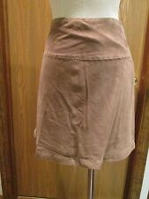 Les Copains Brown Suede Skirt Size 6