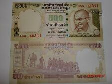 INDIA PAPER MONEY-1  'MG' NOTE-RS. 500/- '2016'-TEL.N0.+BRAIL.LINES-INSET L#EACi