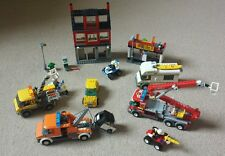 Lego City Bundle: Fire Engine, 7945; Camper, 7639; Pizza/Bike Shop, 7641. MORE!