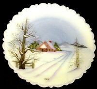 Fenton Glass Plate All Is Calm Christmas Classic Series 1981 Limited  Edition