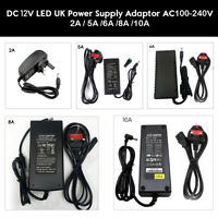 Power Supply Unit Adapter 2A 5A 6A 8A 10A -12V DC  UK Plug Adaptor for CCTV