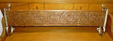 Antique Church Pew Hymnal / Bible Rack - Pressed Wood w/ Wrought Iron Ends - 25""