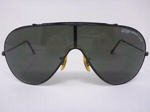 Vintage Bausch & Lomb B&L Wings Aviator Sunglasses Black 63-17-130