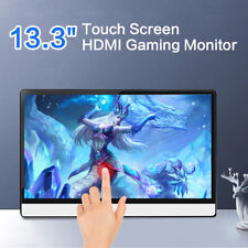 """Portable 13.3"""" Touch Screen HDMI Monitor 1080P HDR 1920X1080 for PS3 Camera PS4"""
