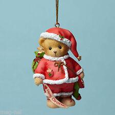Cherished Teddies ~ Ho Santa Merry Christmas Bear Ornament 3rd Series  New 2015