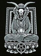 """Baphomet Nirvana"" Buddha Satire Men's XL Shirt Teevillain"