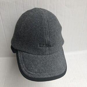 L.L.Bean Mens Fleece Baseball /Hiking Hat Size S/M Warm Charcoal gray