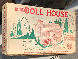 1950's original ! LOUIS MARX TOYS - METAL DOLL HOUSE - No. 4018 - BOX ONLY !