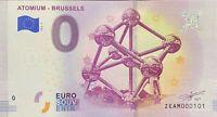 BILLET 0  EURO ATOMIUM BRUSSELS  BELGIQUE  2018  NUMERO 101