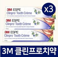 3pcs 3M ESPE Clinpro Tooth Creme Anti Cavity Toothpastes Oral Care Vanila_VA