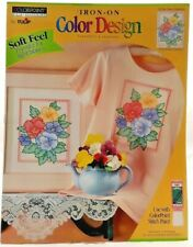 1995 ColorPoint Painstitching Transfer Pattern Pansy Collection Fabric Paint7468