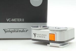 DHL [N MINT] Voigtlander VC Meter II Silver Shoe Mount Light Meter from JAPAN