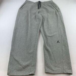 Jordan Pants Adult Extra Large Jumpman Gray Basketball Sweat Pants Mens