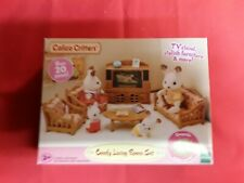 """CALICO CRITTERS """"COMFY LIVING ROOM SET"""" OVER 20 PIECES BY EPOCH (NIB)"""
