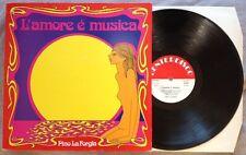 PINO LA FORGIA / L'AMORE E' MUSICA - LP (printed in Italy 1981) RARE !!!