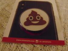Spinpop Poop Emoji Phone Grip Kickstand Organizer Sp17-Mont-6 Brand New Nib