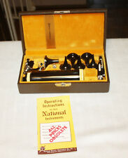 National Electric Instruments Company Medical Otoscope Othalmoscope In Case
