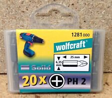 Wolfcraft 20 Bits Solid Phillips Nr. 2 in Bitbox  1281000
