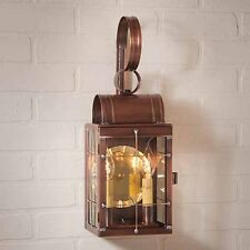 Antique Copper Double Outdoor Wall Lantern | Exterior Copper Light Fixture
