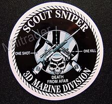 USMC 3rd Marine Division Scout Sniper Waterproof Vinyl Decal